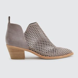Dolce Vita Sher Perforated Ankle Boots in Grey